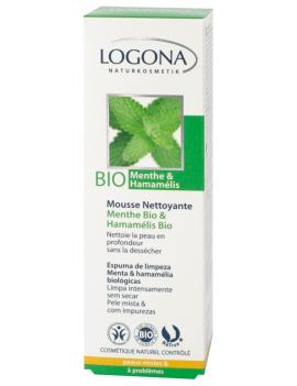Mousse nettoyante menthe bio & hammamelis bio 100mL Logona