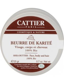 Beurre de Karité 100% BIO 20g Cattier