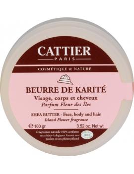 Beurre de Karité Parfum Fleurs des Iles 100g Cattier