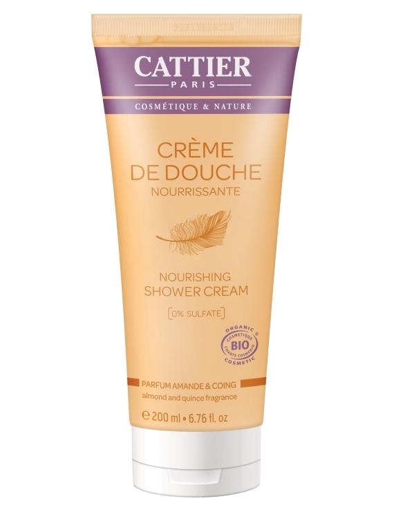 Crème de douche nourrissante parfum Amande et Coing 200ml Cattier