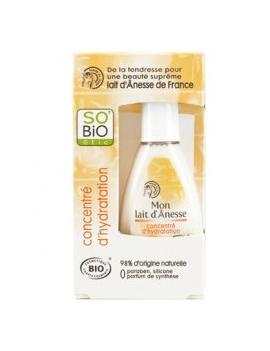 Concentré d'hydratation au lait d'ânesse bio 30mL SO'BiO étic