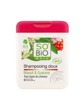 Shampoing doux, niaouli et guarana 250mL SO'BiO étic