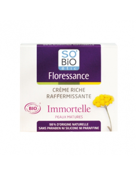 Crème riche raffermissante Immortelle bio 50mL Floressance