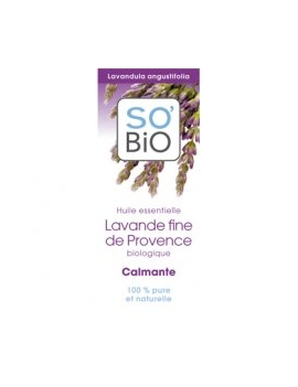 Huile essentielle Lavande fine bio - Calmante 10mL SO'BiO étic