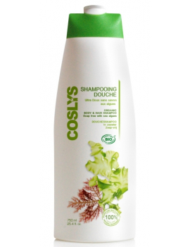 Shampoing douche algues marines 750mL Coslys