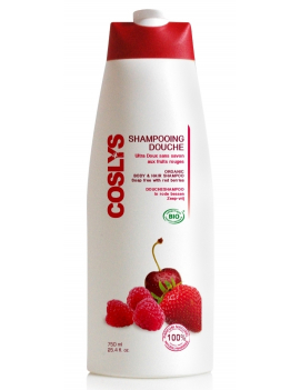 Shampoing douche fruits rouges 750mL Coslys