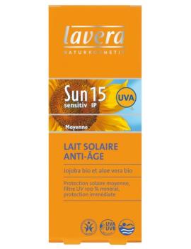 Lait solaire anti-âge IP15 Lavera