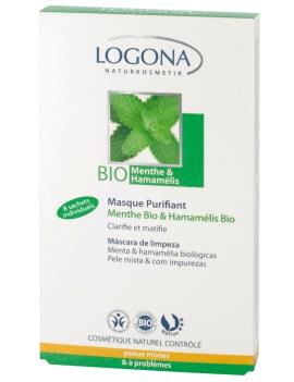 Masque purifiant menthe bio & hamamelis bio 8x7,5mL Logona