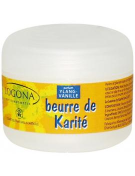 Beurre de karité soin corps Ylang-ylang vanille 50ml Logona