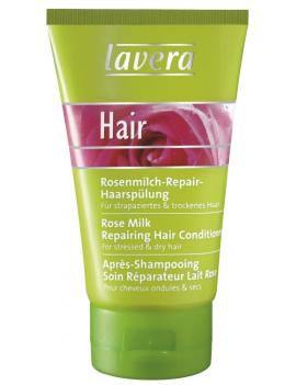 Après-shampoing au lait de rose 150ml Lavera